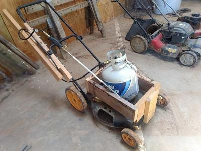 Propane Torch on Homemade Cart