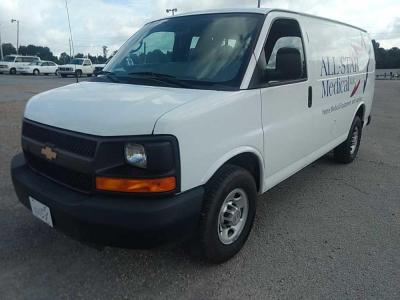 2014 Chevrolet Van; VIN: 1GCWGFBA7E1174096; 75,605 miles; has back-up camera; ; Title Delay; 3/4 ton truck