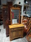 Young Republic Solid Hard Rock Maple  Cabinet/Console/Server With Mirror, Tell City Chair Co.