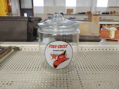 Fire Chief Glass Jar With Lid