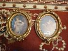 """The Red Boy"" print (portrait made in 1825 by Sir Thomas Lawrence) and ""Miss Murray"" prints in ornate frames (original artwork painted by Sir Thomas Lawrence)"