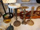 Bronze Candle Holders & Ash Tray