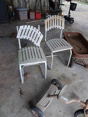 (2) Metal Chairs, vintage