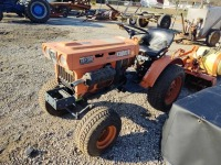 KUBOTA B5100E DIESEL 2 WHEEL DRIVE TRACTOR W/ SPRAYER & TILLER ATTACHMENTS