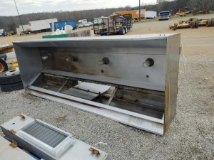 LARGE COMMERCIAL STAINLEES STEEL VENTILATION HOOD