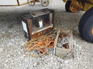 HEATER, CHAINS, BOOSTER CABLES & EXTENSION CORD
