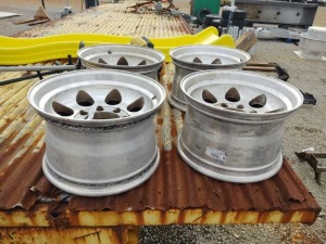 SET OF (4) 8 LUG WHEELS