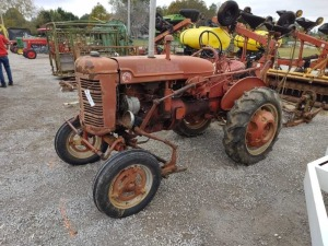 SUPER A FARM ALL TRACTOR W/ MOWER, CUTTER ... & CULTIVATOR