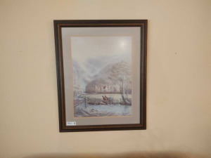 "FRAMED & MATTED ""BACK ROADS"" PRINT BY ARNOLD MCDOWELL"