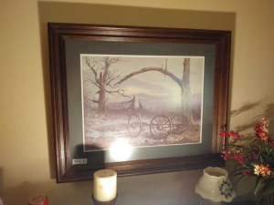 "FRAMED & MATTED ""SPRING PLACE"" PRINT BY BEN HAMPTON"