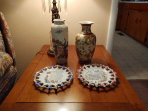 DISPLAY PLATES & TALL VASES