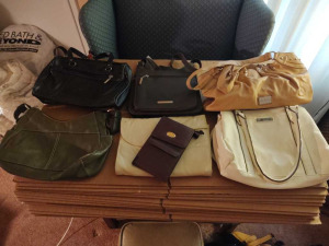 COLLECTION OF LADIES PURSES & HANDBAGS