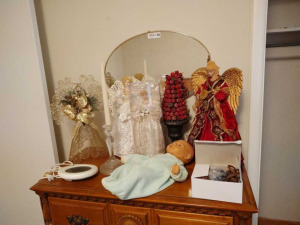 MIRROR, TREE TOPPERS, BABY DOLL & CANDLE WARMER
