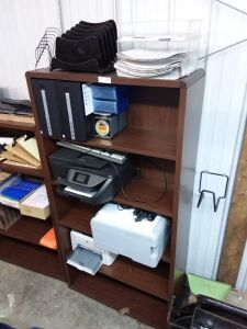 Bookshelf With Office Equipment