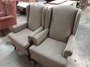(2) Wing Back Chairs