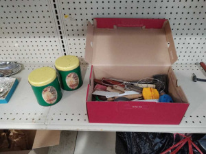 VINTAGE KITCHEN UTENSILS & TINS