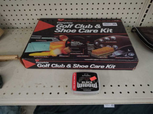 GOLF CLUB & SHOE CARE KIT W/ CLEAT SPIKES