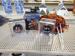 AUBURN THEMED CHRISTMAS ORNAMENTS & POM-POMS