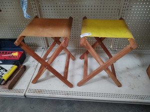 VINTAGE CANVAS CAMPING STOOLS