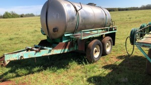 Stainless Steel 1000-Gallon Water Wagon