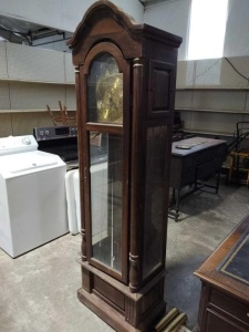 Vintage 3-Chime Grandfather Clock By The Steinway Co. Clockmakers