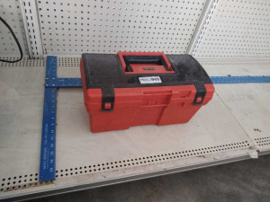"TOOLBOX W/ CONTENTS & ""T"" SQUARE"