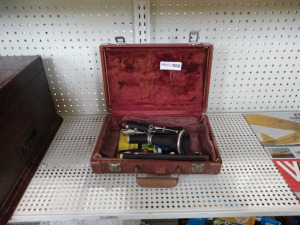 Vintage Clarinet & Case (note of interest, played in the Huntsville High School Band)