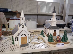 Ceramic Christmas Village Churches