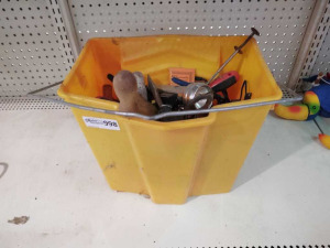 BUCKET OF VARIOUS TOOLS