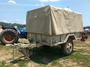 PINTLE HITCH MILITARY TRAILER WITH CANVAS TOP