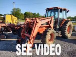 KUBOTA M-120 WITH LA1601 LOADER (BUCKET & HAY SPEAR)