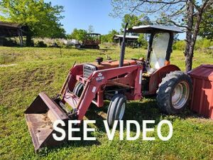 Massey Ferguson 231 Tractor With Loader (quick attach bucket & hay spear); 2,119.7 hrs