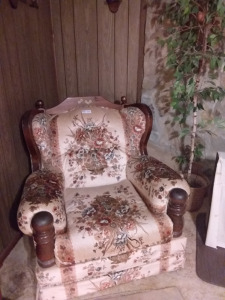 "Vintage ""Grandma's Couch & Arm Chair"""