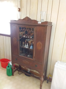 Vintage China Cabinet With Glass Front