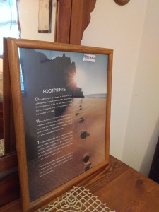 "Large Framed Print Of ""Footprints"""