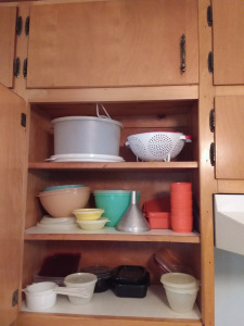 (3) Shelves Of Kitchen Plastic Bowls