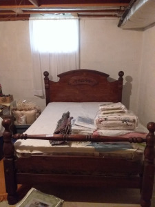 Full Bed With Wood Frame