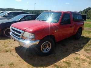 1999 FORD RANGER With CAMPER SHELL VIN# 1FTYR10C6XPB76674193,622 MILES***WAS DRIVEN TO AUCTION YARD OVER A YEAR AGO.***NO LONGER RUNS, POSSIBLE BAD FUEL PUMP (RUNS ON ETHER)