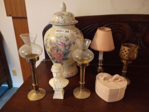 Miscellaneous:  Vase, Candle Holders & More