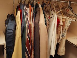 Contents Of Closet:  Afghans, Hats, Luggage & Garment Bags