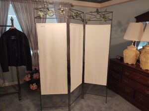 "3-Panel Dressing Screen (71"" tall)"