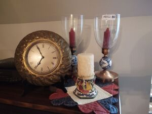Candle Holders & Clock