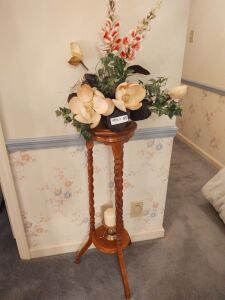"Wood Plant Stand (35"" tall)"