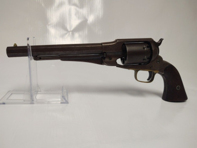 45 Ball & Cap, Octagon Barrel Black Powder Revolver, 6 Shot, (S), 15102, Made in New York in 1858