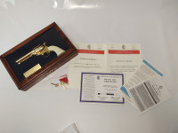 The Gene Autry Tribute Revolver By America Remembers, 79 of 150, in display case, .45LC, 1518, Taylors & Co. CDA & papers