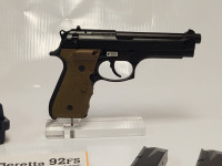 Beretta M9 With Laser Grip, SN 110577, Assy 9346487-65490, With (2) Magazines, Hard Case, Manuals & Box