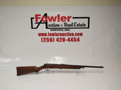 J.B. Stevens Arms Company .22 Short/Long/Long Rifle, missing magazine, has a bullet stuck in barrel