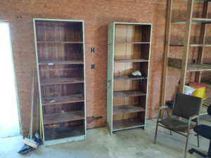 (2) Wooden Shelving Units