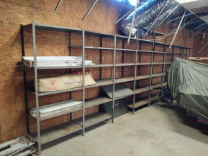Wall of Metal Shelving Units (to be dismantled by the Buyer)