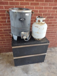 "Char-Broil ""The Big Easy"" Propane Deep Fryer & 2-Drawer Filing Cabinet"
